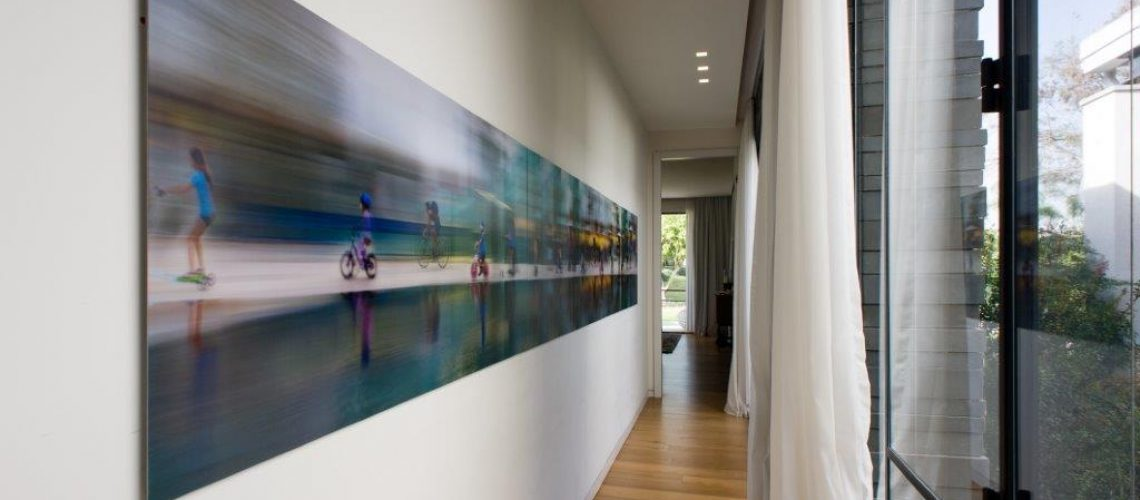 Photography work, 5m long, on corridor leading to the bedroom